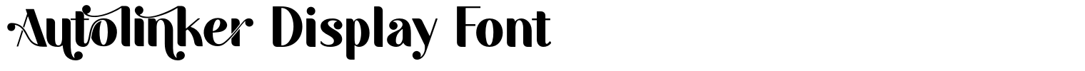 Autolinker Display Font