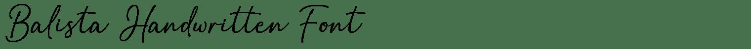Balista Handwritten Font