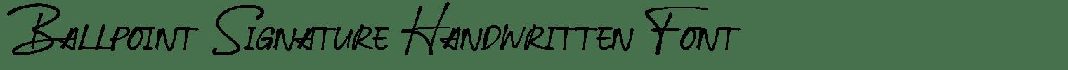 Ballpoint Signature Handwritten Font