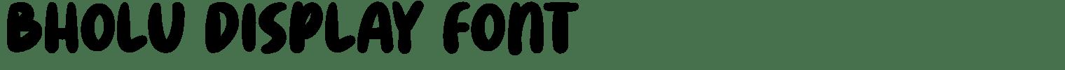 Bholu Display Font