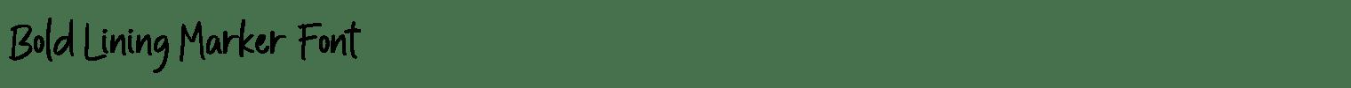 Bold Lining Marker Font
