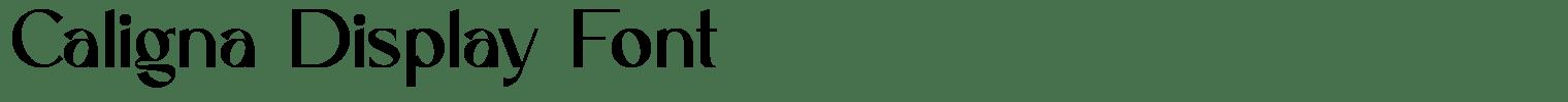 Caligna Display Font