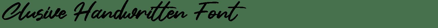 Clusive Handwritten Font