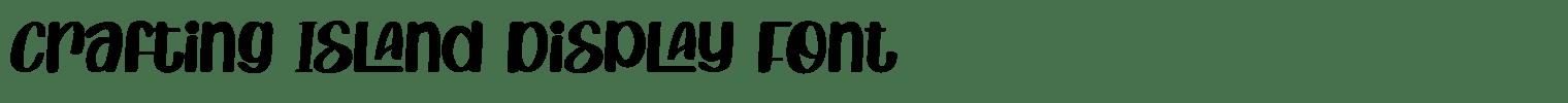 Crafting Island Display Font