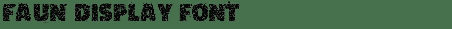 Faun Display Font