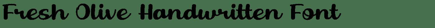 Fresh Olive Handwritten Font