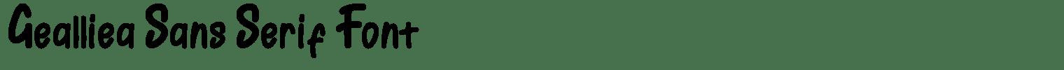 Gealliea Sans Serif Font