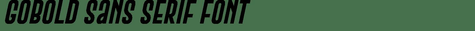 Gobold Sans Serif Font
