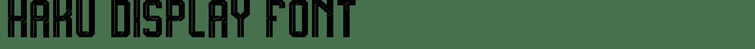 Haku Display Font