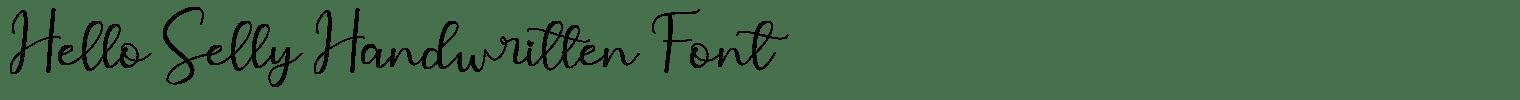Hello Selly Handwritten Font