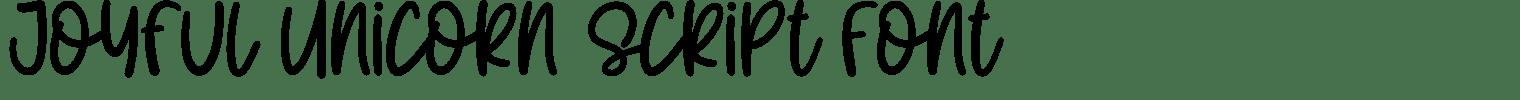 Joyful Unicorn Script Font