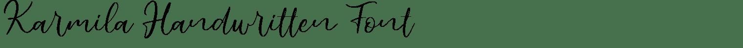 Karmila Handwritten Font