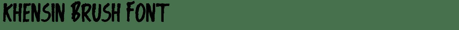 Khensin Brush Font