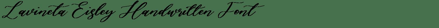 Lavineta Eisley Handwritten Font