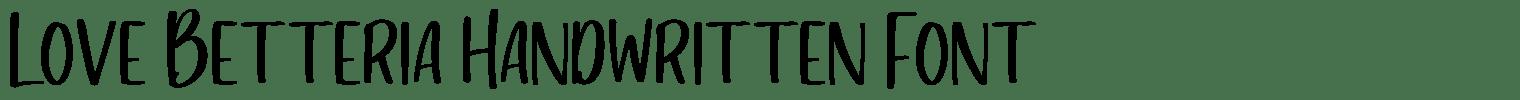 Love Betteria Handwritten Font
