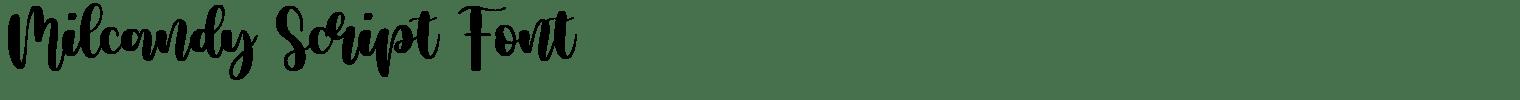 Milcandy Script Font