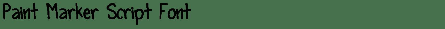 Paint Marker Script Font