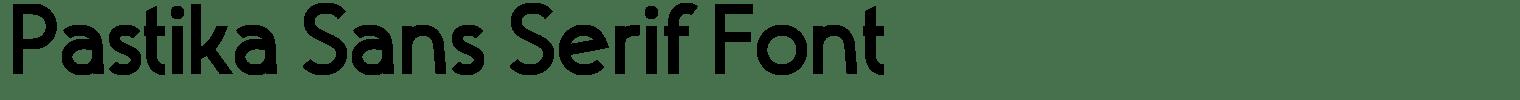 Pastika Sans Serif Font