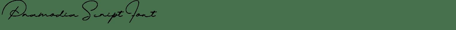 Pramodia Script Font