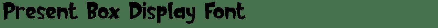 Present Box Display Font