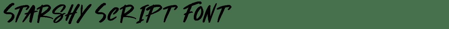 Starshy Script Font