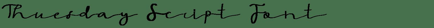 Thuesday Script Font