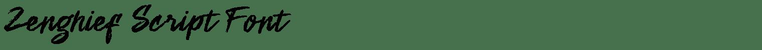 Zenghief Script Font