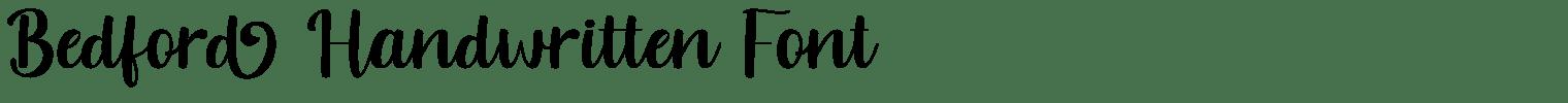 Bedford Handwritten Font