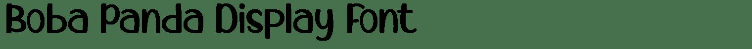 Boba Panda Display Font
