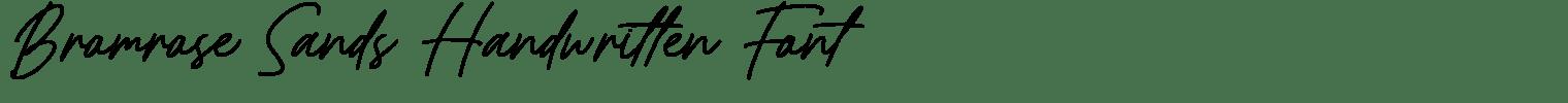 Bromrose Sands Handwritten Font