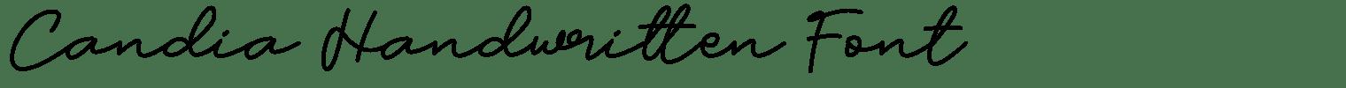 Candia Handwritten Font