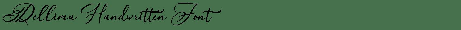 Dellima Handwritten Font