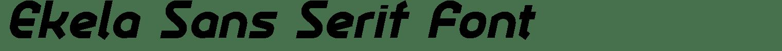 Ekela Sans Serif Font