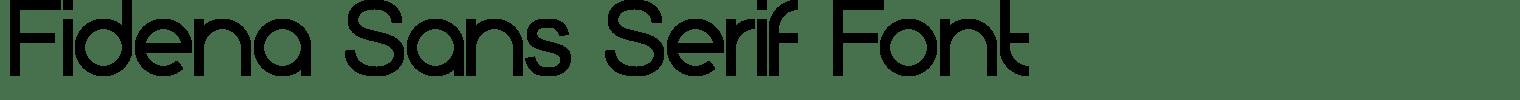 Fidena Sans Serif Font