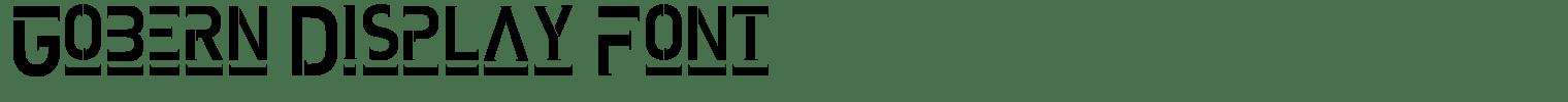 Gobern Display Font