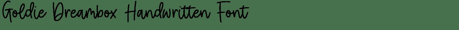 Goldie Dreambox Handwritten Font