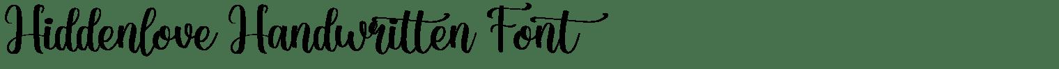 Hiddenlove Handwritten Font