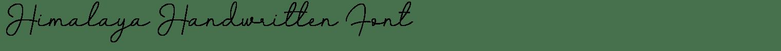 Himalaya Handwritten Font