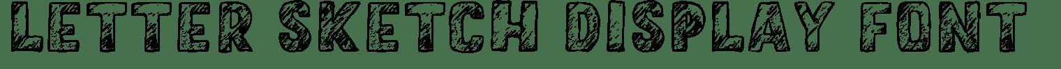 Letter Sketch Display Font