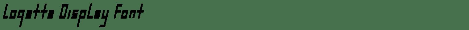 Logatta Display Font