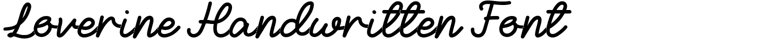 Loverine Handwritten Font