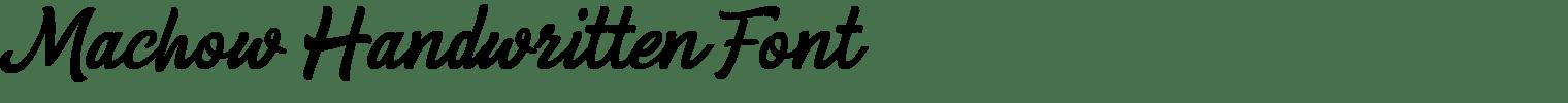 Machow Handwritten Font