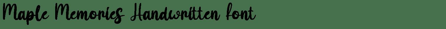 Maple Memories Handwritten Font