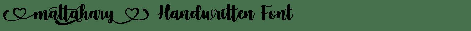 Mattahary Handwritten Font