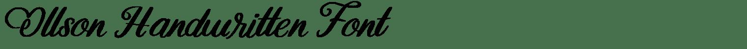 Ollson Handwritten Font