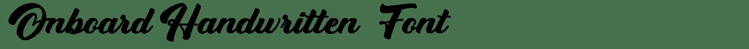 Onboard Handwritten Font