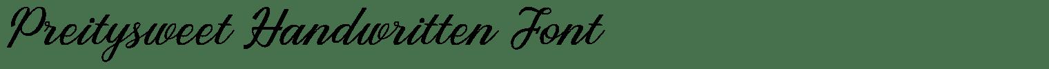 Preitysweet Handwritten Font
