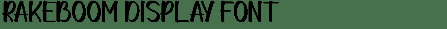 Rakeboom Display Font