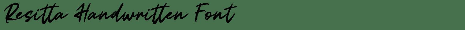 Resitta Handwritten Font