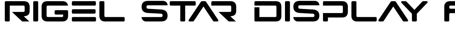 Rigel Star Display Font